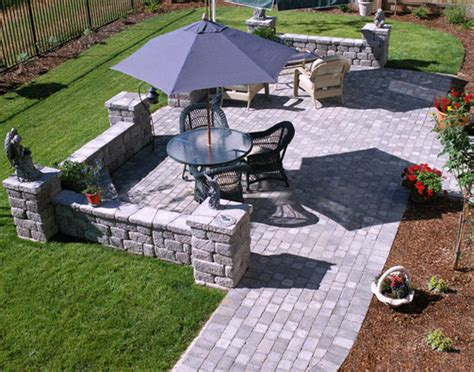 backyard stone patio ideas basalite paver patio paver idea gallery natural stone