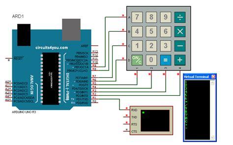 circuit diagram 4x4 matrix keypad wiring diagram