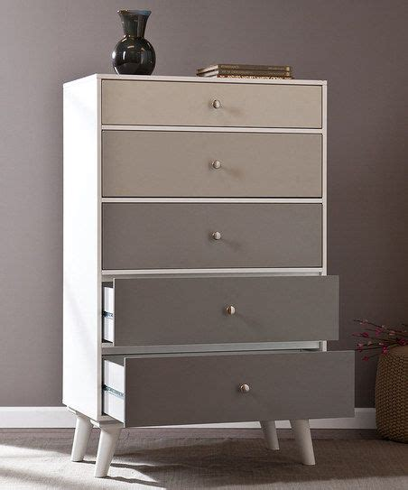 shades of blue ombre chest of drawers dresser changing gray scale color block five drawer dresser painting