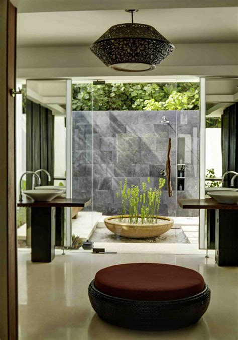 tropical nature bathrooms   inspired home design
