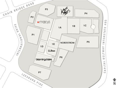 tysons corner mall map tysons corner center directory access point affairs pint