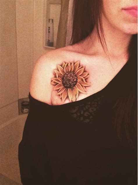 sunflower tattoo on shoulder 53 sunflower tattoos blossoms seeking out light