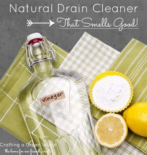 natural bathtub drain cleaner vinegar drain cleaner that smells good