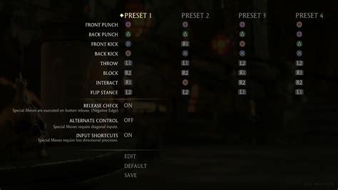 layout en pc controllers matching the controls of mortal kombat x
