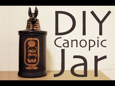 How To Make A Canopic Jar Out Of Paper - diy canopic jar
