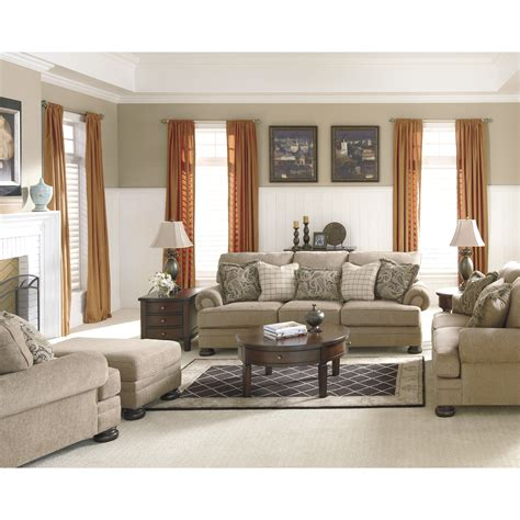 living room setting signature design by ashley dozier living room collection