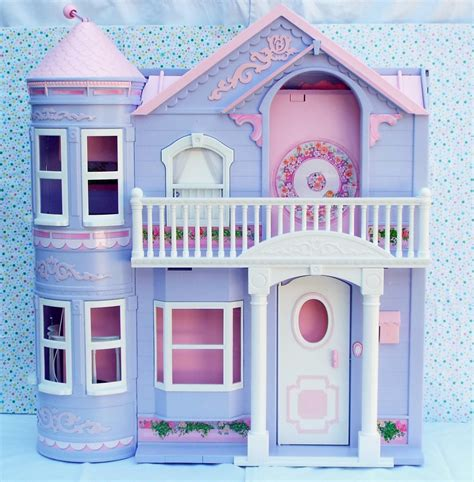 barbie dream doll house 6 15 sold barbie dream house dollhouse 2000 purple working elevator