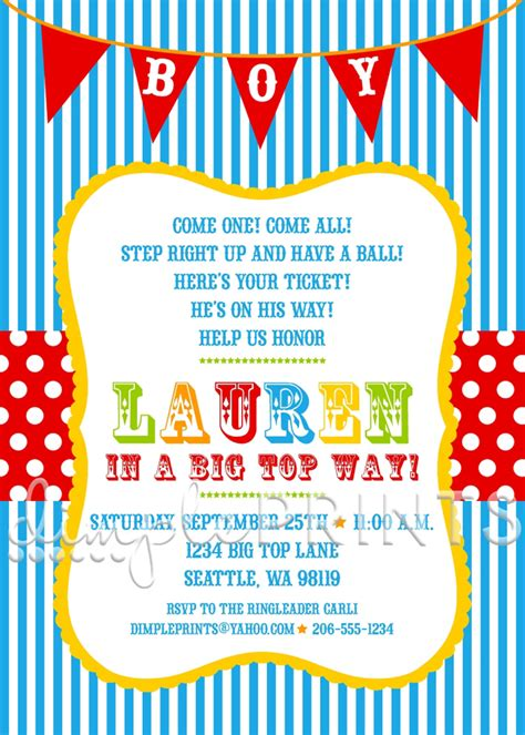 Circus Baby Shower Invitation Templates by Baby Shower Invitations Best 10 Vintage Circus Baby