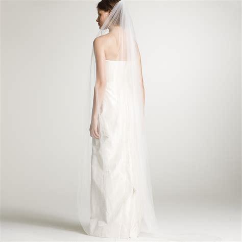 Floor Length Veil Ivory by J Crew Floor Length Bridal Veil In White Lyst