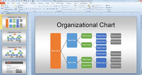 Related Organization Chart In Powerpoint
