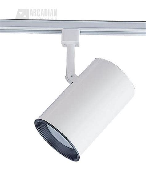 Large Track Lighting Fixtures Sea Gull Lighting 2523 15 Large White Flat Cylinder With Baffle Track Light Fixture Sg 2523 15
