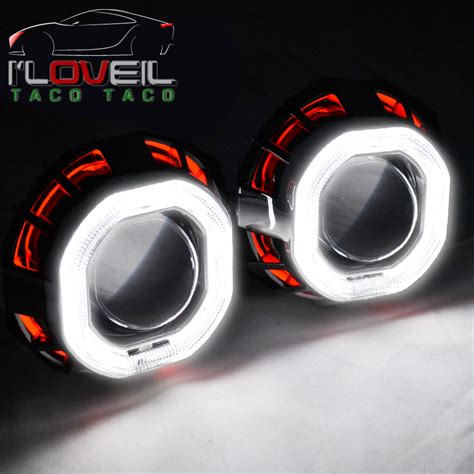 Lu Eye Angle Projector Be Xenon 2ring for chevy retrofit ccfl halo eye projector headlight l shrouds hid ebay