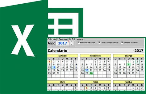 calendario permanente gerador de calendarios  excel