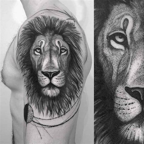 white lion tattoo black and white tattoos