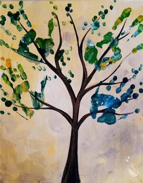 paint with a twist alamo ranch handprint tree all ages sunday january 22 2017