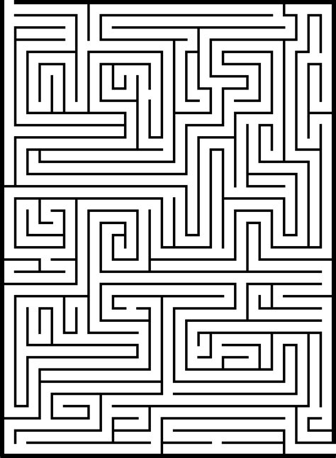 6 Best Images Of Big Printable Mazes Free Printable | 6 best images of big printable mazes free printable