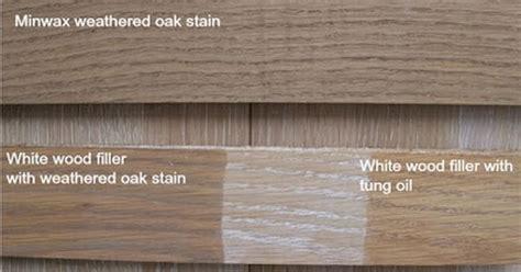 minwax weathered oak    white wood filler