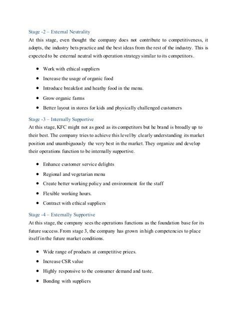 kfc layout strategy operation strategy assignment kfc