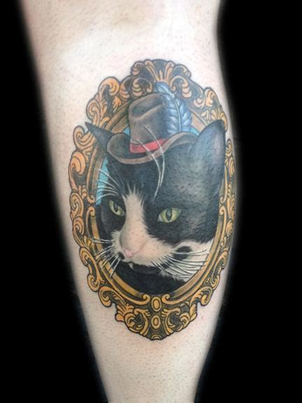 cat tattoo top hat ricky borchert s tattoo designs tattoonow