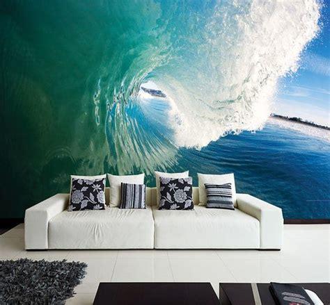 wall mural  perfect wave wall paper  adhesive wall