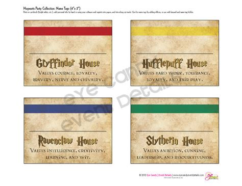 harry potter names harry potter inspired hogwarts printable name tags hogwarts birthday harry