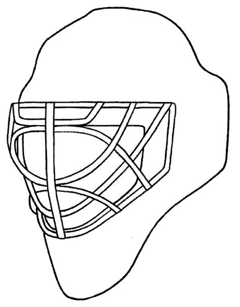printable goalie mask hockey helmet clipart 20