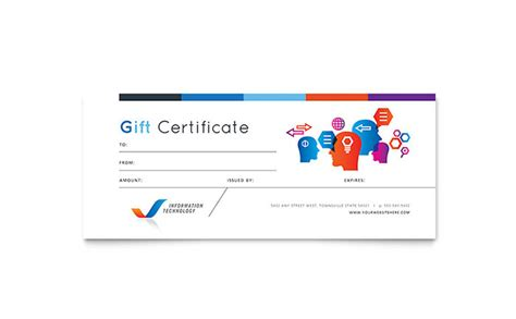 free gift card design template free gift certificate templates ready made designs