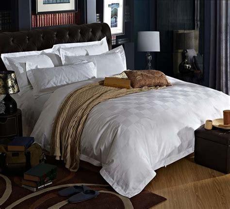stars hotel  cotton satin luxury white hotel bed linen bedspreads elegant bedding set