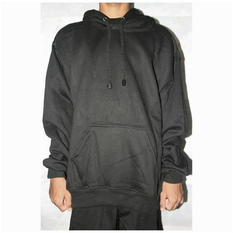 Size Jaket Sweater Hoodie Polos Zipper Hitam jaket polos hoodie sweater hoodie zipper