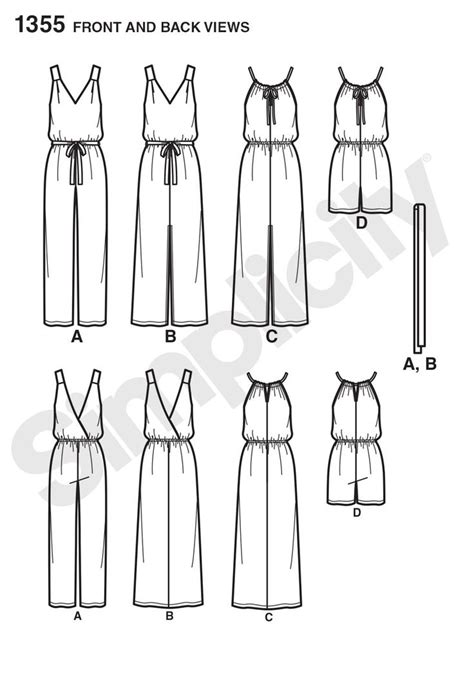 jumpsuit pattern simplicity 1355 384 best my simplicity sewing pattern images on pinterest