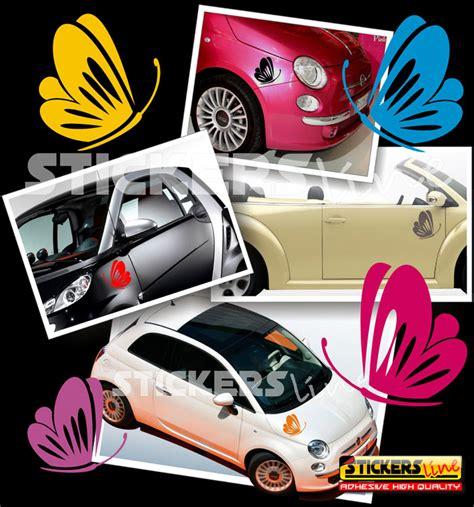 adesivi fiori per auto kit adesivi farfalle 2 smart fiat 500 fiori auto moto
