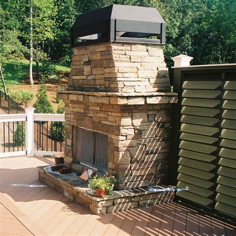 Custom Outdoor Fireplace Or Fire Pit Archadeck Outdoor Custom Outdoor Fireplace