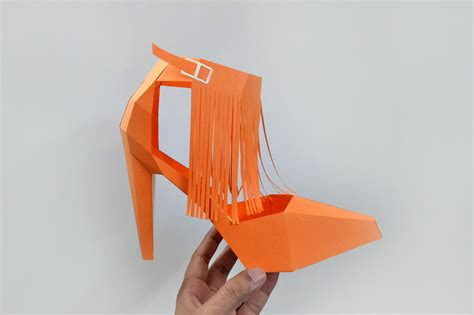 How To Make A Paper High Heel Shoe - diy tassle high heel shoe 3d papercraft by paper amaze