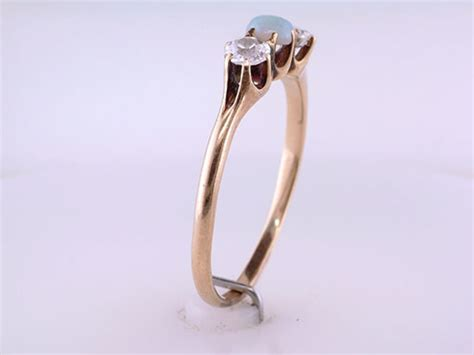 vintage antique opal 14k yellow gold