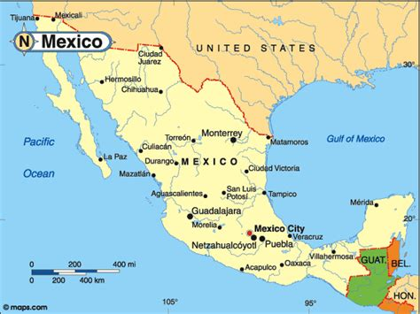 map of the country of mexico countrywatch elections central