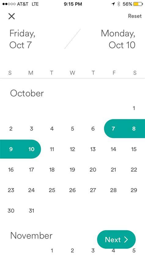 airbnb datepicker best 25 calendar app ideas on pinterest ui ux calendar