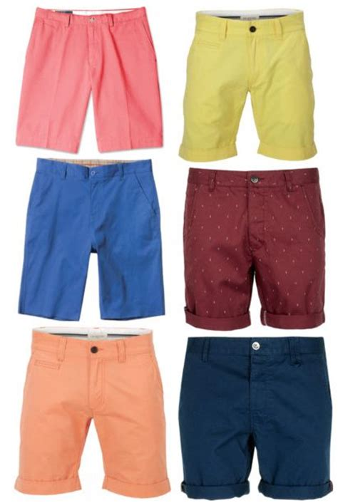 mens 2013 trends colored shorts well dressed