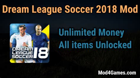 mod game dream league soccer 2018 dream league soccer 2018 hacked game mod apk free with