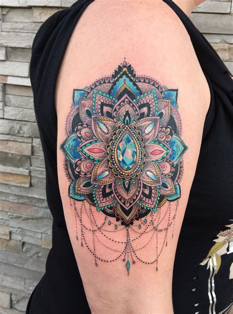 obsidian tattoo mandala done by laurianne at obsidian in