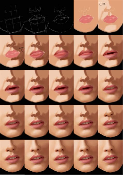watercolor mouth tutorial mouth tutorial by jht888 on deviantart