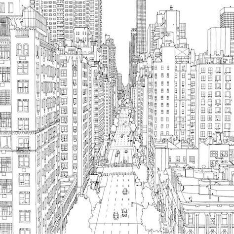 libro new york drawings dibujos de ciudades para colorear e imprimir
