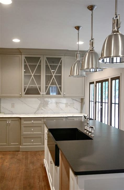 Grey Kitchen Cabinets Pictures Gray Kitchen Cabinet Paint Colors Transitional Kitchen Benjamin Whale Gray Modern