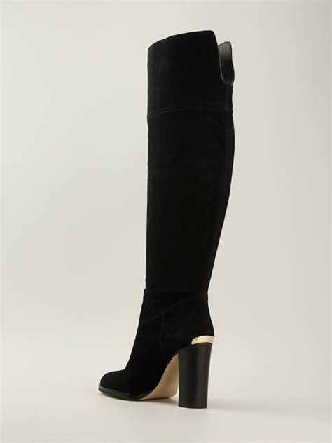 michael kor boots lyst michael michael kors boots in black