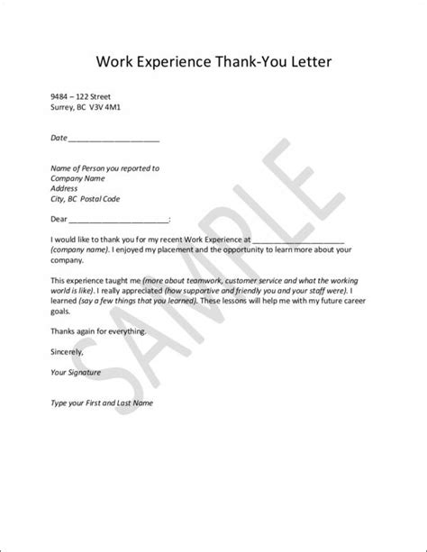 thank you letter for worker 9 sle thank you letter templates to free pdf