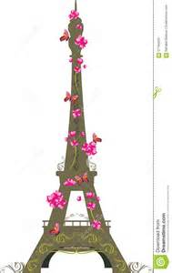 Artificial Roses Eiffel Tower With Flowers And Butterflies On The White