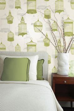 green feature wall bedroom wallpaper bedroom on pinterest bedroom feature walls wallpaper feature walls and