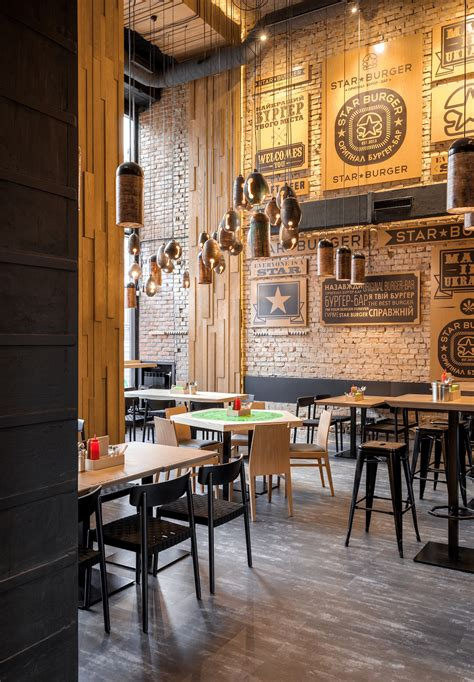 star burger  industrial restaurant design adorable home