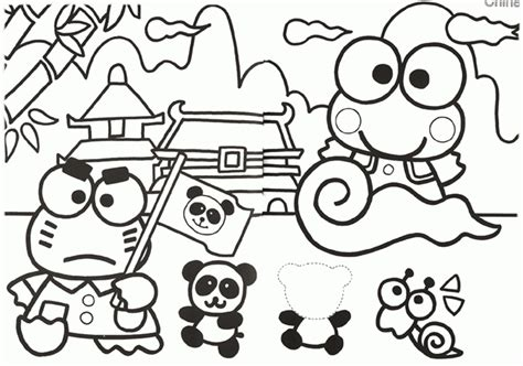 keroppi coloring pages coloring home