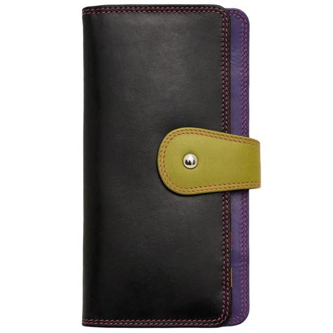 Multi Color Wallet womens leather multi color bifold wallet by ctm