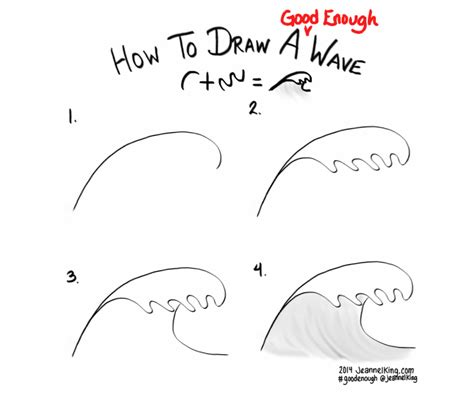 jeannelking how to draw a enough wave